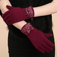冬季老年人女士手套加厚保暖妈妈分指手套女冬天奶奶手套老人护手