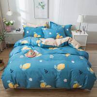 【每满100减50】床上四件套纯棉全棉1.8/1.5m床简约双人床单被套床品套件纯棉四件套