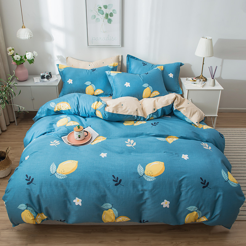 【领券立减100】床上四件套纯棉全棉1.8/1.5m床简约双人床单被套床品套件纯棉四件套