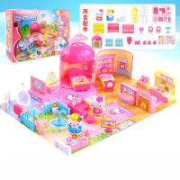 儿童过家家玩具女孩KT猫别墅大房子玩具凯蒂猫娃娃屋