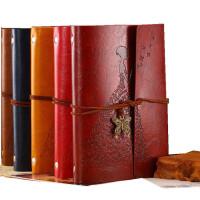 复古牛皮纸记事本 韩国创意日记本a6活页本 笔记本文具牛皮本子