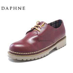 Daphne/达芙妮布洛克鞋特价英伦风厚底学院平底女单鞋