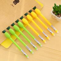 包邮 创意文具摩易消水笔 可爱菠萝造型中性笔 学生黑色签字笔 10支装