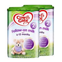 【2段】英国直邮/保税仓发货 英国Cow&Gate牛栏 婴幼儿奶粉 二段(6-12个月) 800g*2罐 海外购
