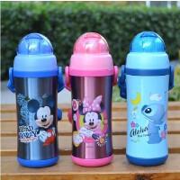 迪士尼儿童保温杯不锈钢吸管保温杯米奇带吸管学生保温水壶