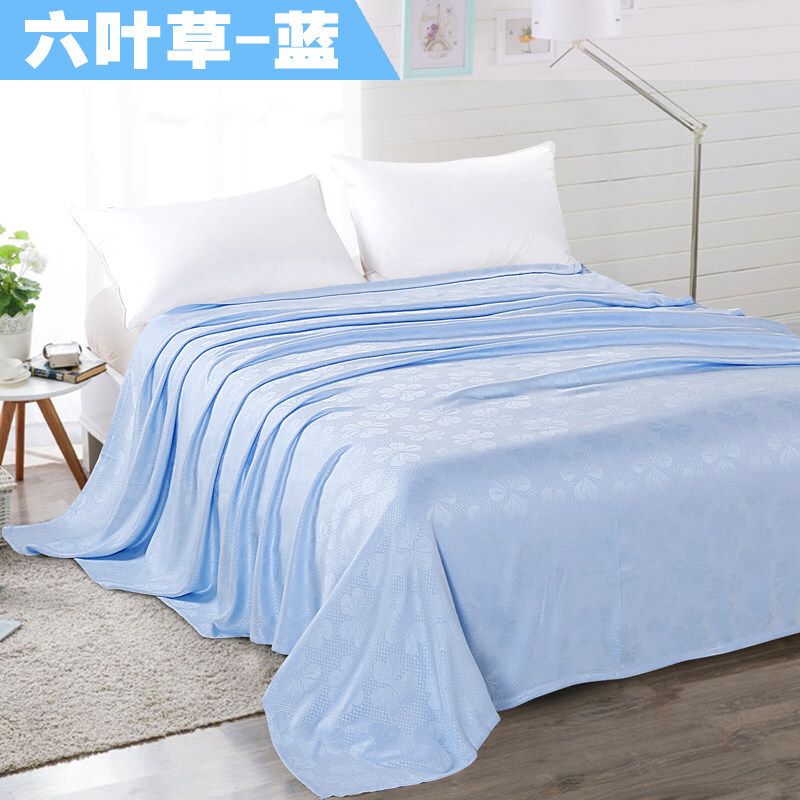 竹浆纤维毛巾被盖毯单人双人午睡毛毯休闲毯儿童空调毯夏凉毯  200cm宽x230cm长 双人大号 加密防勾丝 清爽透气 可铺可盖 包退换
