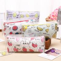 创意水果布丁笔袋学生简约大容量笔盒时尚水果铅笔袋pvc盒精装