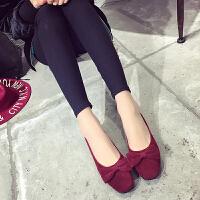 2017春季新款鞋韩版蝴蝶结女鞋平底鞋单鞋休闲时尚懒人鞋(偏小一码)