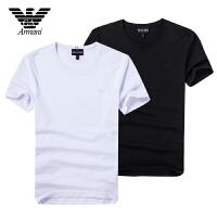 Armani阿玛尼 男士夏季短袖T恤 休闲圆领简洁款logo装饰 A6X18DP两色