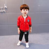 宝宝秋装男小童0-1-3岁新款潮装套装三件套4女孩运动韩版纯棉衣服