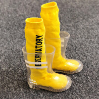 儿童雨鞋男童女童小孩水鞋公主胶鞋宝宝幼儿小童透明水晶雨靴