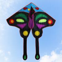 风筝舞天儿童蝴蝶风筝大型三角大亮眼热印蝴蝶风筝