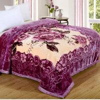 双层加厚毛毯婚庆毯子大红冬季双人珊瑚绒毯盖毯8斤