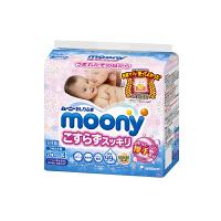 【网易考拉】moony 尤妮佳 婴儿湿纸巾 加厚型 纯水99%替换装180枚(60枚×3) 新