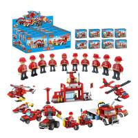 积木消防拼装玩具男孩六一儿童拼插3-6-8-10周岁礼物 消防全套845颗粒/附10个公仔 +送拆件器