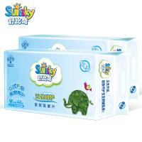舒比奇 宝宝婴儿尿片 五优呵护亲体纸尿片 44片 2包 M码