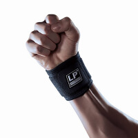 20180826133800185护具 高透气型调节加压篮球羽毛球护腕 LP753CA 黑色 均码