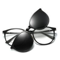 两用套镜吸片近视太阳镜男女磁吸偏光墨镜带框架夹片式眼镜司机镜