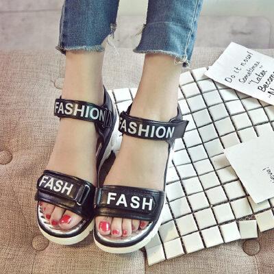 O'SHELL法国欧希尔新品060-17333韩版超纤皮松糕底女士凉鞋