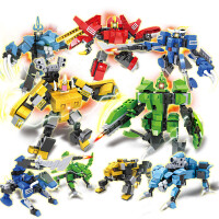 积木儿童玩具男孩变形金刚6-10岁拼装