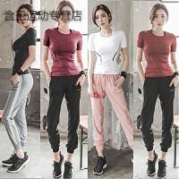运动上衣女速干半袖T恤显瘦紧身瑜伽训练服跑步健身房短袖夏