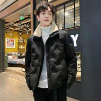 男士冬季外套加绒加厚男士夹克韩版潮流棉衣男装棉袄羽绒棉服
