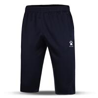 KELME卡尔美 K15Z430 男式足球训练中裤 夏季休闲裤 运动七分裤 吸湿排汗透气