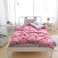 家纺新款全棉印花儿童三件套四件套波点系学生公寓宿舍套件床单款 被套200*230,床单245*250, 枕套48
