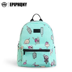 Epiphqny重生女学生日韩学院风休闲PU小号双肩书包