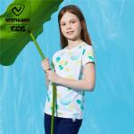 诺诗兰童装女童短袖T恤2021夏大童圆领凉感速干舒适T恤儿童短袖