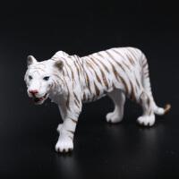 儿童小男孩玩具套装动物园模型 塑胶实心狮子老虎犀