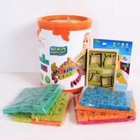 儿童拼图玩具 汉字学习拼图玩具组合宝宝儿童早教益智礼盒装生日礼物 175粒欢乐学汉字
