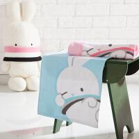 【年货狂欢,限时5折抢】多喜爱啵兔系列纯棉毛巾方巾(两条装)
