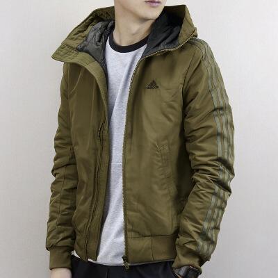 adidas棉服 Adidas阿迪达斯男子休闲夹克运动连帽棉服BQ4124价格 品牌