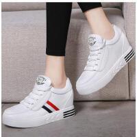 莫蕾蔻蕾春季新款休闲鞋厚底白色韩版运动鞋女单鞋百搭学生内增高女鞋70028S