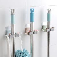 免打孔吸盘拖把架卫生间挂架扫把架卫生间浴室拖布挂夹收纳架子 颜色随机发(单个装)