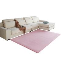 加厚珊瑚绒地垫 客厅茶几短绒地毯儿童防滑卧室小地垫满铺可・ 灰色 加密加柔
