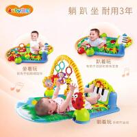 澳贝婴儿玩具脚踏琴健身架0-1岁益智3个月宝宝撕不烂布书牙胶摇铃
