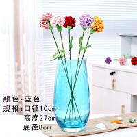 桌面摆件彩色恐龙蛋造型水培花瓶百合花玫瑰花插花花器透明玻璃 大