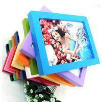 木质礼品相框 平板实木相框 照片墙 8寸挂墙