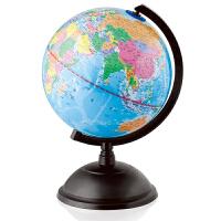 得力3033地球仪20cm放大镜一个 全塑证区地球仪 钓鱼岛 黄岩岛 教学用品 学生用品 立体地球仪摆件
