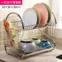 【满减】欧润哲 厨房双层碗碟架 沥水碗架筷子架晾碗架置物架一体化餐具收纳架