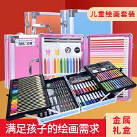 可水洗水彩笔套装幼儿园工具套装彩色笔儿童画笔套装美术学生用品24色水彩笔36蜡笔小学生绘画安全无毒画画笔