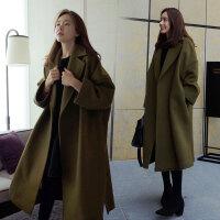特大码呢子大衣胖妹 200斤加肥加大风衣女胖mm显瘦中长款毛呢外套
