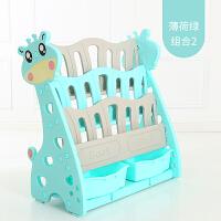 宝宝儿童玩具收纳架箱书架多层筐大容量分类整理储物柜子置物架子