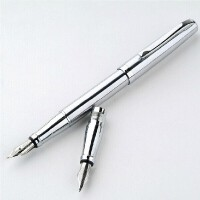 钢笔 美工笔 公爵209白钢美工笔 双笔头钢笔 练字 墨水笔