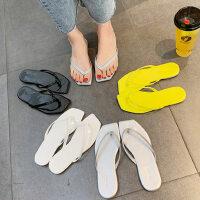 户外平底人字拖女ins百搭时尚外穿可湿水沙滩凉拖鞋