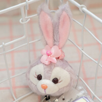 达菲熊雪莉玫史黛拉兔挂件伸缩钥匙扣 高5厘米