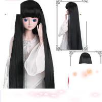 【支持礼品卡】娃娃假发套60厘米改妆头发精灵梦夜萝莉仙子bjd娃娃的假发 v7w