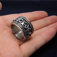 男士钛钢戒指韩版学生饰品尾戒男生宽食指戒指环